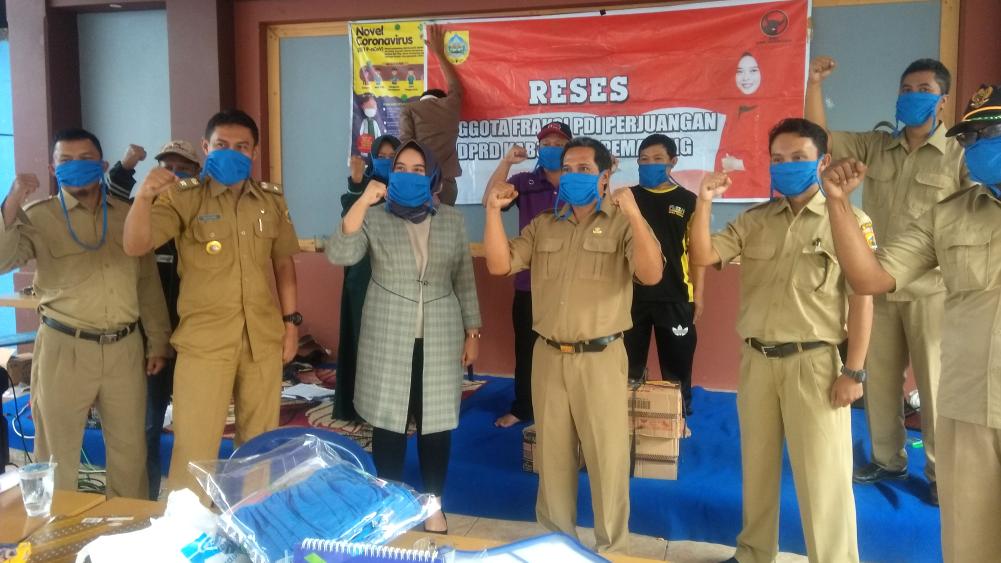 Reses Anggota DPRD Kabupaten Pemalang di Posko Covid-19 Bulakan