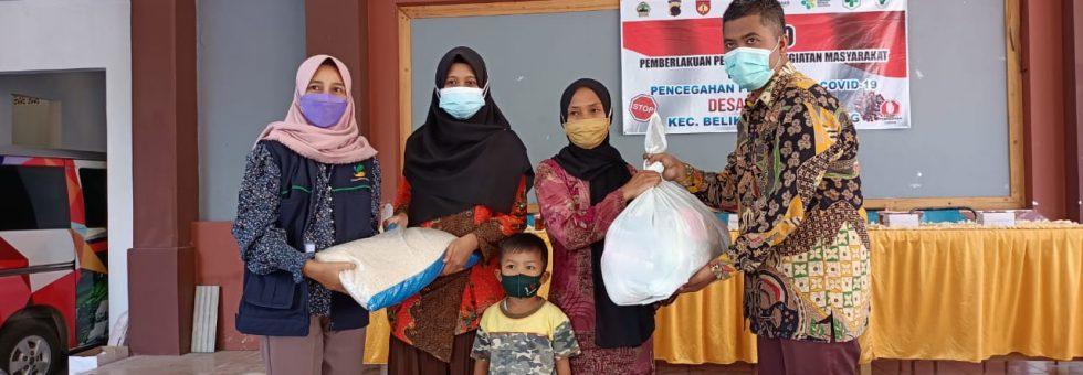 Penyerahan Bantuan Sosial Permakanan kepada Penerima Manfaat Desa Bulakan