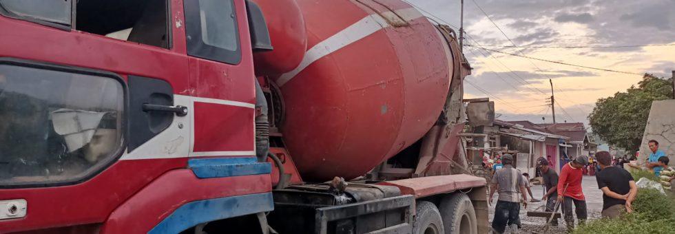 Rabat Beton Jalan Lingkar Bultim: Untuk Pertama Kalinya, Truk Molen Langsung Masuk Gang